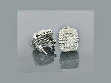 Diamanten Ohrringe 14 Karat 585er Weißgold 2,48 Karat Top Wesselton Neu