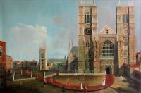 Quality Hand Painted Oil Painting, Cathedral and Cardinals 24x36in