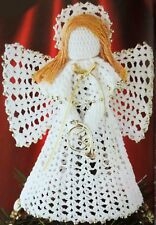 Crochet Pattern How To Make a LACE ANGEL Christmas Doll Decoration Tree Ornament