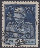 Italy Regno - 1925 Giubileo perf.11 - Sassone n. 191 used  cv 265$ very rare