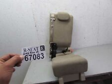 2007-2012 Nissan pathfinder second middle rear row center seat tan cloth 2nd OEM
