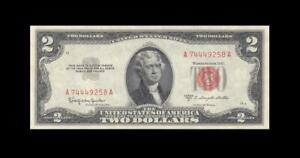 1953-C UNITED STATES TWO DOLLARS $2 **Consecutive 2 of 2** (( GEM UNC ))