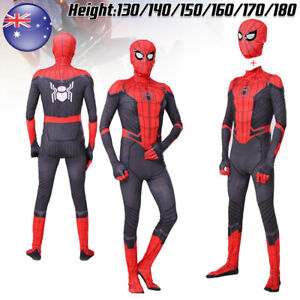 Kids Adult Spider-Man Far From Home Spiderman Costume Men Boys Cosplay Suit