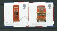 GREAT BRITAIN 2009 BRITISH DESIGN CLASSICS BUS ,PHONE BOX SELF ADHESIVE F.USED