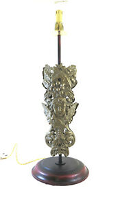 Table Lamp Desk Lampshade Vintage Wrought Iron Floral CH31
