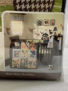 Lambs And Ivy Perfect Fit 4-Piece Bumper BOW WOW BUDDIES SPORTS