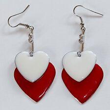 Ohrhänger Ohrringe Ohrhaken Ohrschmuck Modeschmuck Herz Silber 1