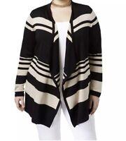 JM Collection Women's Plus Flyaway Open Front Cardigan NWT Size 2X