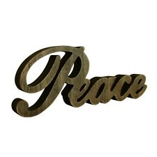 "Vintage Distressed Wooden Sign Standing ""Peace"" Tabletop/Shelf/Wall Decor Art"