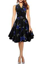 50's, Rockabilly Formal Floral Dresses for Women