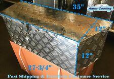 "35""L Aluminum Tongue Underbody Tool Box Trailer Rv Tool Storage Bed w/Lock"