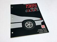 1989 Buick Cadillac Chevrolet GMC Oldsmobile Pontiac Paint Colours Brochure