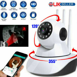 Wireless 1080P HD WIFI IP CCTV Camera Smart Home Night Vision Indoor Security
