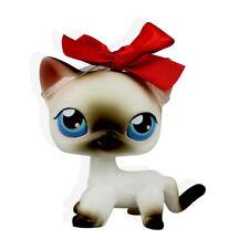 2PCS #391 #5 Rare Littlest Pet Shop White Gray Siamese Short Hair Cat LPS