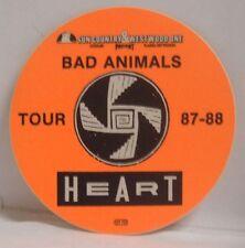 HEART (ANN & NANCY WILSON) - ORIGINAL CONCERT TOUR CLOTH BACKSTAGE PASS