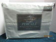 Bed Bath & Beyond 400 Thread Count Aqua Percale Sheet Set Size King