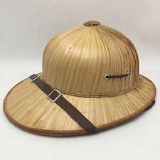 Youth Safari Hat Wicker Straw Natural Pith Helmet Costume Dress Up Zoo Keeper