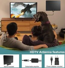 Indoor Amplified HDTV TV Antenna 50 Mile Range Amplifier Signal Booster 2018 NEW