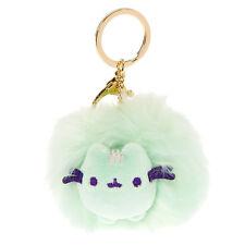 Pusheen Pom Pom Keychain Mint Plush Key Ring Clip Key Chain Licensed Gund NWT