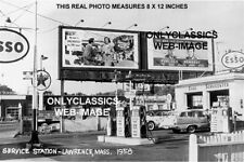 JOHN KENNEDY JFK BILLBOARD SIGN TEXACO ESSO GAS SERVICE STATION PHOTO POLITICS