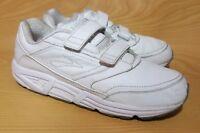 Brooks Addiction Walker Mens White Leather Training Running Shoes 12