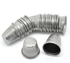 30x Silver Tone Sewing Thimbles 19x18mm Closed Top Dressmakers Tailor Wholesale