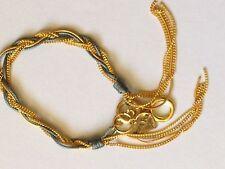 Fabric Mixed Metals Friendship Costume Bracelets