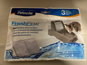 Petmate Fresh Flow Charcoal Filters 3 Ct.  Cat Water Fountain Filters.