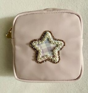 NWT Stoney Clover Lane Mini Lavender Pouch w/ a Gingham Pearl Star sewn on