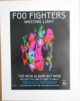 FOO FIGHTERS Wasting Light 2011 Music Press Poster Type Advert In Mount