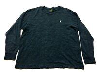 Polo Ralph Lauren Mens Blue Long Sleeve T-Shirt Size Large