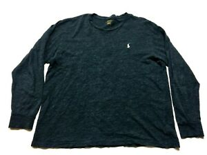 Polo Ralph Lauren Mens Blue Long Sleeve T-Shirt Size Large