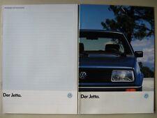 Prospekt VW Jetta 2 CL GL GT 107 PS GTD Katalysator II Modelle 1986 1987 deutsch