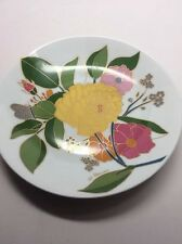 Signed W. BAUER ROSENTHAL Yellow floral wall plate Studio Linie