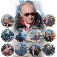 WR 10 PCS Vladimir Vladimirovich Putin Silver Commemorative Coin Collection Gift
