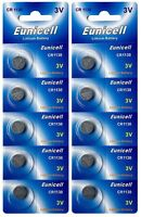 10 x CR1130 3V Lithium Knopfzelle 48 mAh ( 2 Blistercard a 5 Batterien )Eunicell