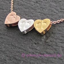 NEUHEIT - heart to get - Anhänger Babyfüsschen - Silber GELBGOLD vergoldet
