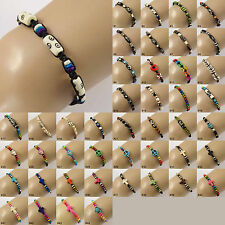 Beaded Waxed Cord Bracelet Wristband mens ladies womens boys girls jewellery