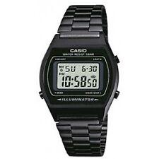 Casio Retro Illuminator Digital Black Stainless Steel 50m B640wb-1aef Watch