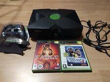 Microsoft Xbox Classic Konsole 8MB mit 2 Controllern und 4 Spielen und Kabeln