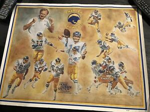 Cool Vintage San Diego/ Los Angeles Charger Poster 1979 Charger Power Rare 19x24