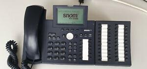 Snom 360 VOIP Systemtelefon / IP Telefon mit Key-Pad Tastaturerweiterung