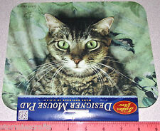 Computer Cat Mouse Pad Fiddlers Elbow Made USA 100% Poly Face Thick Cushion