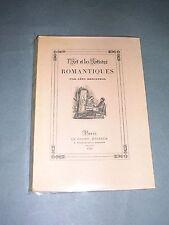 Romantisme Léon Rosenthal l'art et les artistes romantiques 1928 ill.de gravures