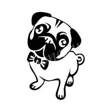 Lovely Pug Dog Window Car Sticker Laptop Truck Black Vinyl Decal Sticker Decor