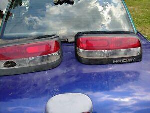 1994 Mercury Capri Tail Lights Used Damaged For Parts Or Repair