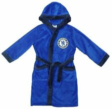 Kids Official Chelsea FC Hooded Fleece Dressing Gown Bath Robe Age 7-8
