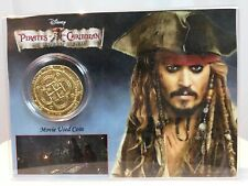 Pirates of the Caribbean Movie Used Treasure Coin in Custom Display