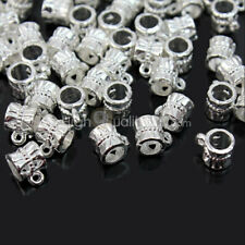 Cool 100pcs Tibetan Silver Connectors Bails fit charm European bead br SBI