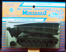 1/87 h0 roco Minitanks z-219, US puentes tumbe tanques AVLB/Bridge Layer, raras, 2